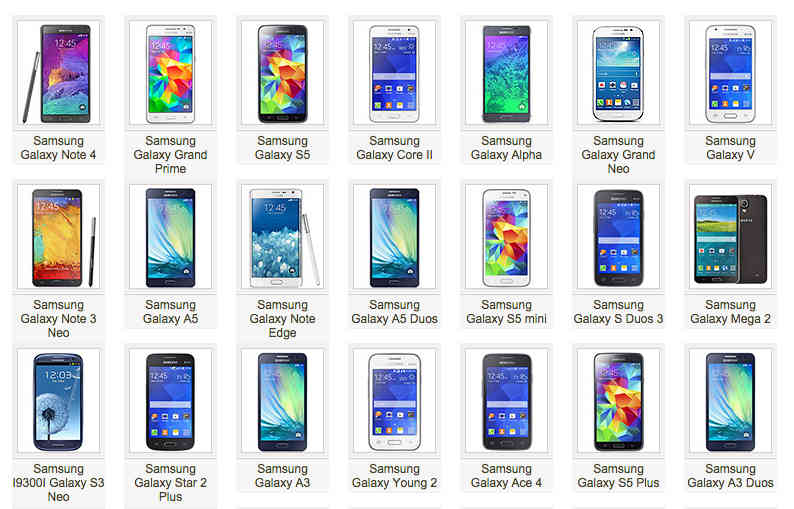 Samsung 2014 All Phoes